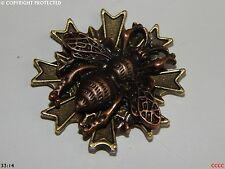 steampunk brooch badge copper bumble honey bee insect beeswax nectar pollen larp