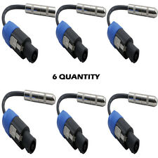 "Pyle 12Ga Compatible Speakon Connector Male to 1/4""Female Cable Adapter Lot of 6"
