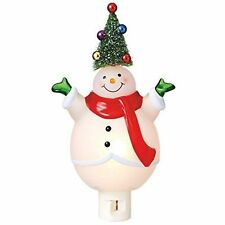 Snowman w/Christmas Tree on His Head Acrylic Night Light by Midwest-CBK