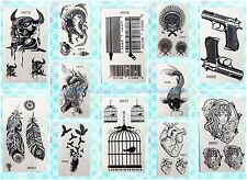 12 sheets lot black henna lace temporary tattoo Neck Arm  wholesale