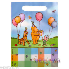 WINNIE THE POOH CLASSIC FAVOR BAGS (8) ~ 1st Birthday Party Supplies Goody Treat