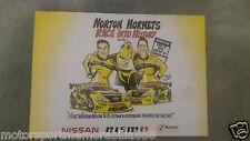 2013 NORTON HORNETS POSTER V8 Supercars NISSAN ALTIMA MOFFAT CARUSO FIRST WIN