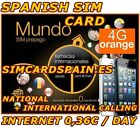 ORANGE MUNDO GO EUROPE SPANISH PAYG PREPAID 4G LTE SIM CARD INTERNET SPAIN