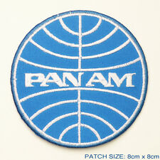 PAN AM - Classic 1960's Style Airlines Company Logo Embroidered Iron-On Patch!