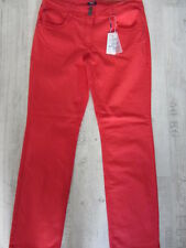 CECIL JEANS HOSE TORONTO W34/L30 NEU High Rise Tight Fit Slim Leg ROT