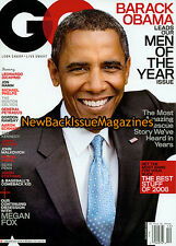 GQ 12/08,Barack Obama,Sean Penn,December 2008,NEW