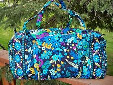 VERA BRADLEY Large Duffel Travel Vacation College Bag Midnight Blues