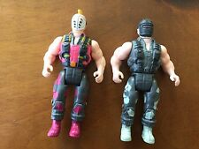 Commando Arnold Schwarzenegger Psycho & Lead Head Figures 1985 Diamond Rare