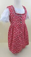 vintage little girls red dress & white blouse tyrolean Heidi Swiss age 5 60'