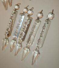 1 antique vintage spear Crystal Gothic Prism Chandelier sconce lamp Part Luster