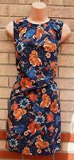MANGO MNG PURPLE CORAL FLORAL SILKY FEEL SHIFT TUNIC CAMI BAGGY TEA DRESS 12 M