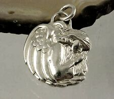 Vintage JE Sterling Silver MICHAEL ~ ANGEL OF PROTECTION Charm