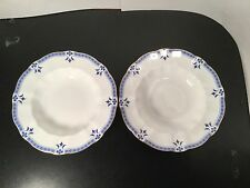 """Royal Crown Derby - Grenville - Rimmed Soup Bowls - TWO - 2 - 8 1/2""""  Bone China"""