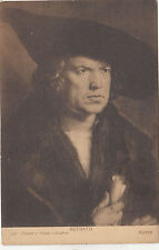 BF33977 durer retrato madrid painting art front/back scan