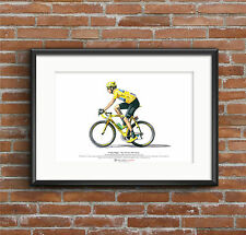 Bradley Wiggins-Great Britain's 1st Tour de France vincitore-ARTE POSTER FORMATO A3