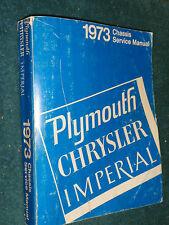 1973 PLYMOUTH / CHRYSLER / IMPERIAL SHOP MANUAL / ORIGINAL MOPAR BOOK