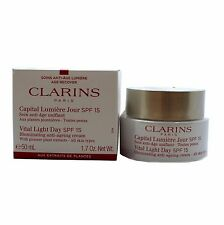 CLARINS VITAL LIGHT DAY SPF15 ANTI-AGEING CREAM (ALL SKIN) 50ML / 1.7OZ. NEW(T)