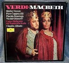 VERDI : MACBETH , VERRETT, DOMINGO, CAPPUCCILLI - 3 LP BOXSET VG CONDITION