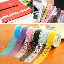 5pc/set Lace Tape Roll DIY Washi Paper Decor Sticky Crafts Self Adhesive Sticker