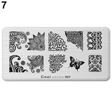 Reusable Stamping Plates Nail Art Printing Plate Image Manicure TipsTemplate #2