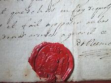 DOC MS 1760 : PROCURATION FEMME CORDONNIER / MENUISIER à GUERET (CREUSE)