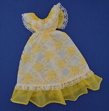 BEAUTIFUL LACE GOWN IN YELLOW AND WHITE | VINTAGE BARBIE SINDY WENDY BABS | EXC