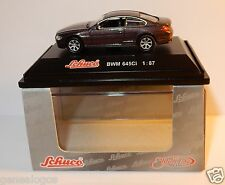 MICRO METAL DIE CAST SCHUCO HO 1/87 BMW 645 CI PARME VIOLET IN BOX