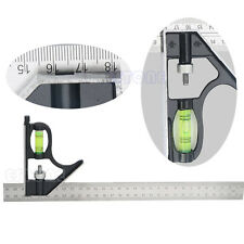 """New 300mm(12"""") Adjustable Engineers Combination Try Square Set Right Angle Ruler"""