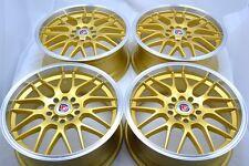17 gold Wheels Rims Soul Optima ES330 Jetta GTI Solara Integra RSX 5x100 5x114.3