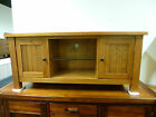 New Large Farmhouse Oak 2 Door TV Unit Stand Cabinet *Branded Furniture*