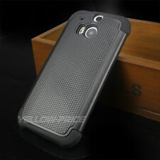 For HTC ONE M8 Slim Hybrid Hard Soft Armor Protective Case Shockproof Cover 2014