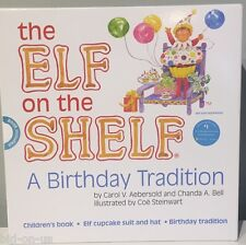 NEW ELF on the SHELF A Birthday Tradition Inc STORYBOOK Elf Cupcake Suit & Hat
