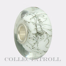 Authentic Trollbeads Silver White Steel Trollbead  61303