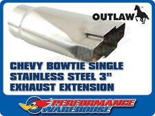 """CHEVY BOWTIE STAINLESS STEEL EXHAUST EXTENSION 3"""""""