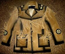 JEFF HAMILTON / MAMMOTH COLLECTIONS:MEN'S SOUTHWEST BUCKSKIN LEATHER JACKET: NEW