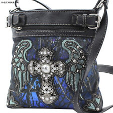 Western Camo Hipster Cross Body Camo Messenger Style Concealed Weapon Handbag