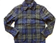New Ralph Lauren Polo Dark Green Plaid 100% Wool Cotton Lined Hunting Jacket L