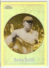 BABE RUTH REFRACTOR 2001 TOPPS CHROME BEFORE THERE WAS TOPPS BT2 NY YANKEES HOF