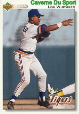 516 LOU WHITAKER DETROIT TIGERS  BASEBALL CARD UPPER DECK 1992