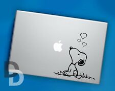Snoopy Hearts Macbook decal / Vinyl Laptop sticker / Cartoon stencil decal