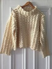 Beautiful Gaeltarra Cream Wool Textured Jumper