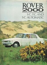 Rover P6 2000 SC & TC 1968-70 Original UK Market Foldout Sales Brochure