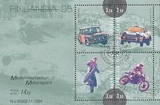 Finland 1995 Used Sheet - Motor Sports - Mikkola, Kankkunen, Mäkinen and Ahvala