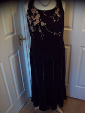 Ladies Fully Lined 3 Piece Black/Gold Outfit size 16 Mother of the Bride/Cruise