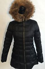 Andrew Marc Down Jacket Black with Fur Hood Size X-Small