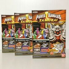 Bandai Power Rangers Samurai Mini-Pla Beetle Swordfish Tiger Zord LOT 3 megazord