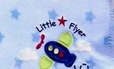 Circo Little Flyer Blue White Baby Blanket Airplane Stars Fleece 32x40