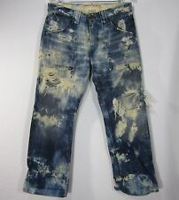 PREMIUM GUESS HAND MADE LIMITED EDITION JEANS PANTS SIZE 31, DISTRESS BLUE