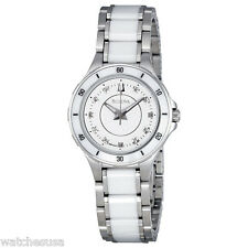 Bulova Women's Substantial Ceramic Stainless Steel Watch 98P124
