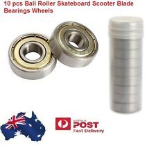 10 pcs Ball Roller Skateboard Sco​oter Blade Bearings Wheels Silver ABEC-5 608ZZ